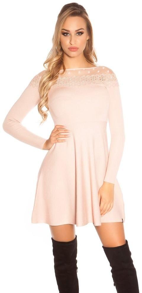 Elegantné úpletové šaty Koucla in-sat1691spi - Lovely.sk c5f92fbee2c