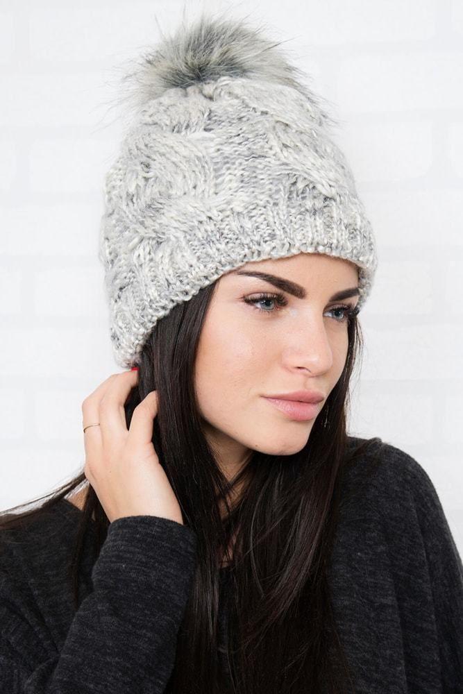 415b481ee Zimná dámska čiapka Kesi ks-ce106sgr - Lovely.sk