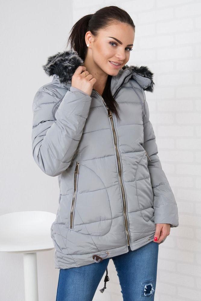 Zimná dámska bunda Kesi ks-bu058sgr - Lovely.sk 9ca6b2181eb