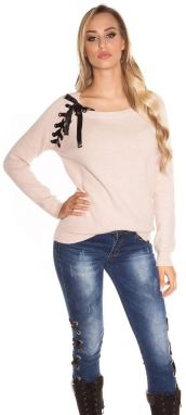 bae03ff5c2db Dámsky sveter s aplikáciou Koucla in-sv1544spi - Lovely.sk
