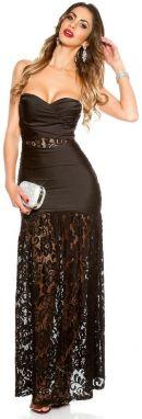 515db686be76 Puzdrové šaty čierne Koucla in-sat1699bl - Lovely.sk