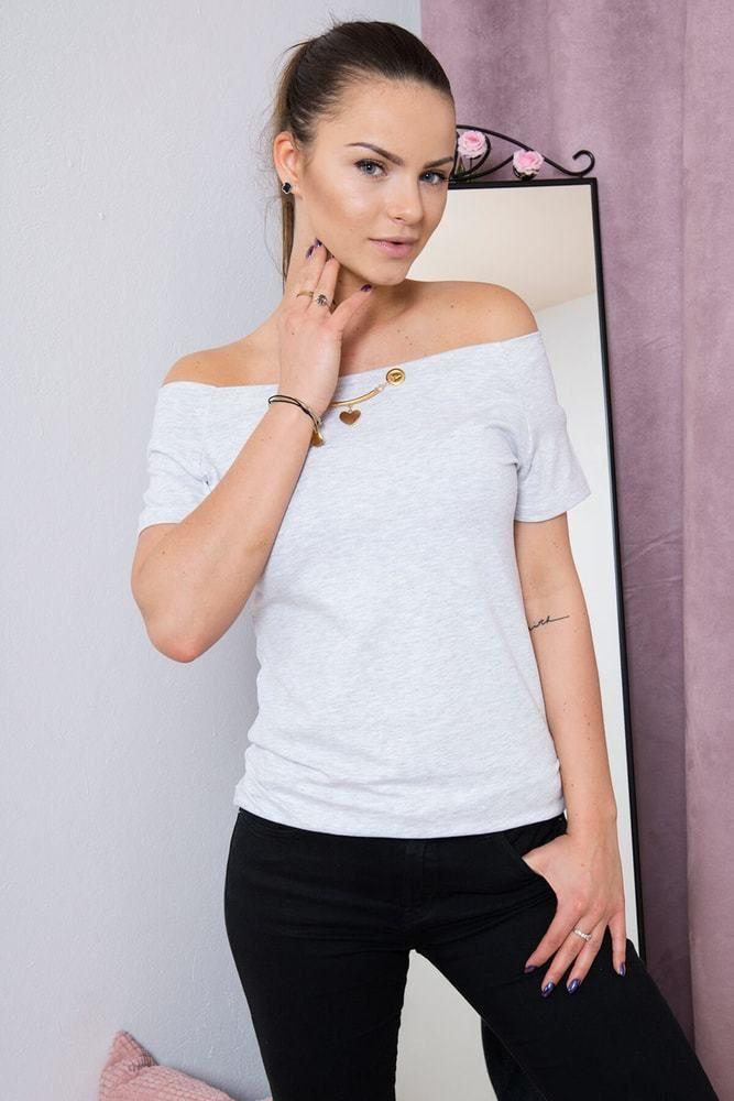 Dámské elegantní tričko Kesi ks-tr51774sgr - Lovely.sk 54f1677a72