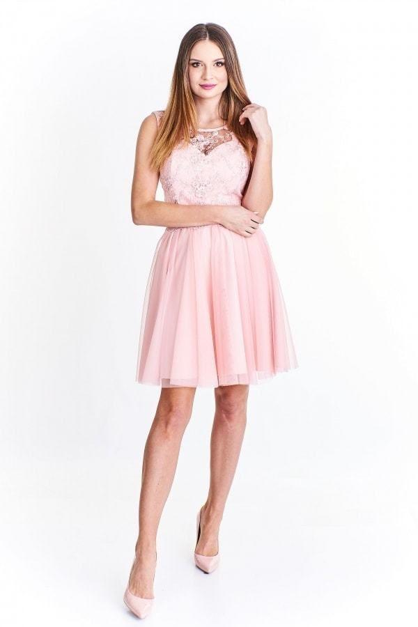 b96647cd24c9 Šaty na ples krátké růžové La toya pt-sat1001spi - Lovely.sk