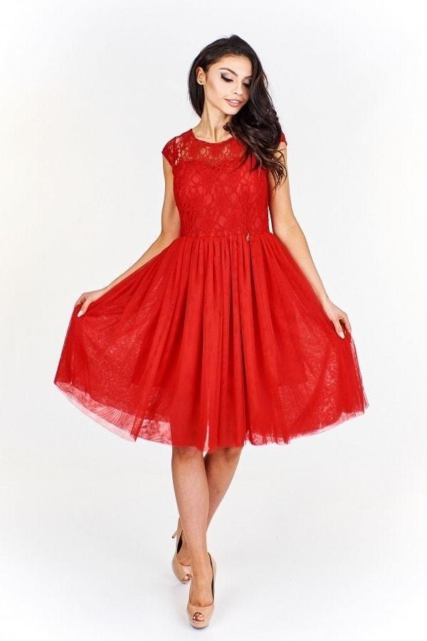fe062856731d Červené společenské šaty Ptakmoda pt-sat1237re - Lovely.sk