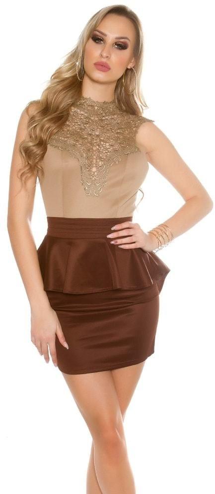 efe8645cb366 Krátke čipkované šaty Koucla in-sat1432ca - Lovely.sk