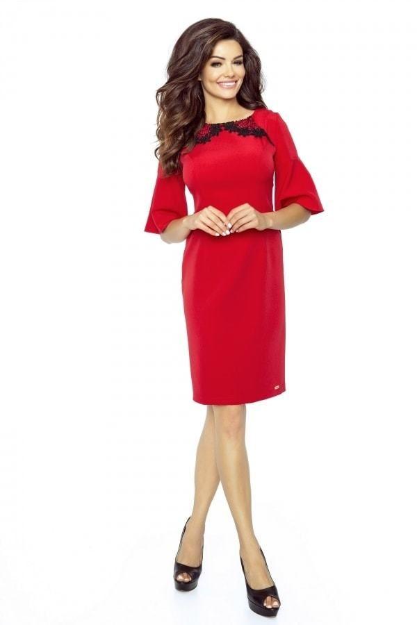 931f24416d1e Dámske elegantné šaty Bergamo pt-sat1215re - Lovely.sk