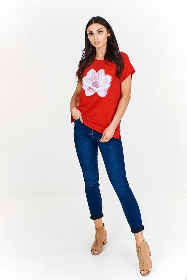 d87916cb4cb3 Červené dámské tričko Ptakmoda pt-tr1087re - Lovely.sk
