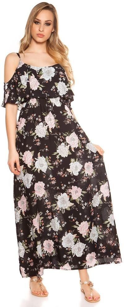 Letné kvetované šaty Koucla in-sat1760bl - Lovely.sk 488e93bfdc3