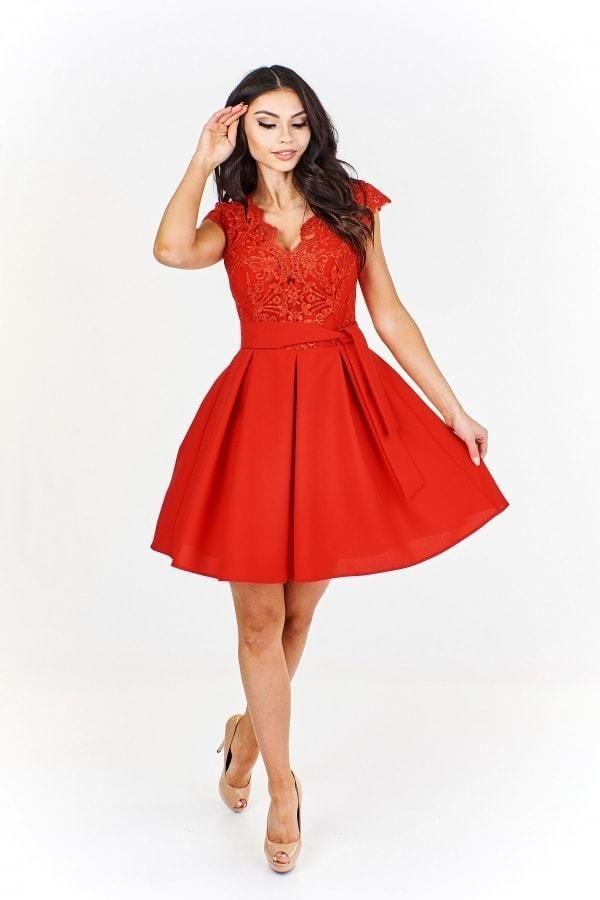 1af8063ffaae Elegantné červené šaty Ptakmoda pt-sat1095re - Lovely.sk