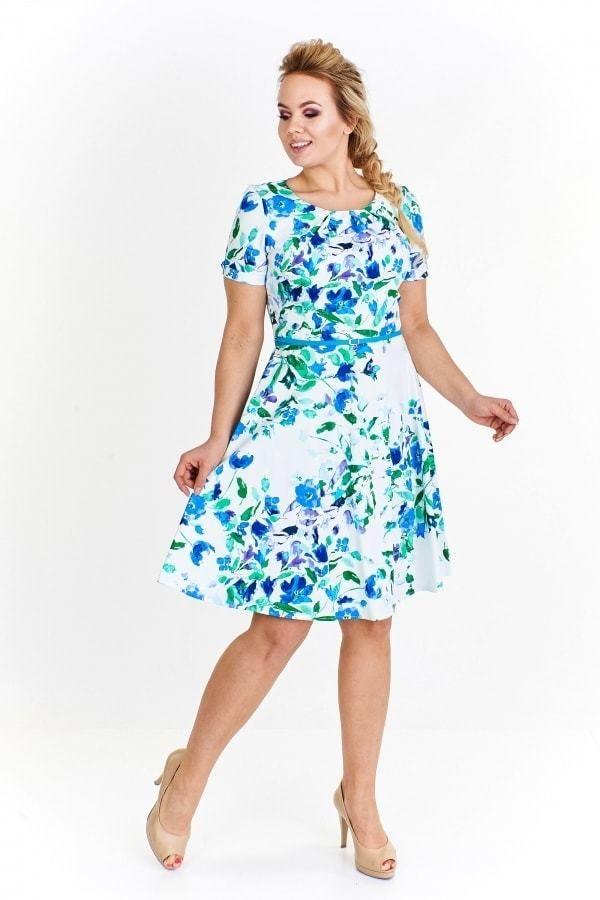 Letní šaty pro plnoštíhlé Ptakmoda pt-sat1147wh - Lovely.sk a800fc80699