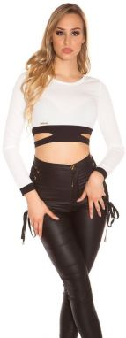Dámský crop top Koucla in-to1386wh