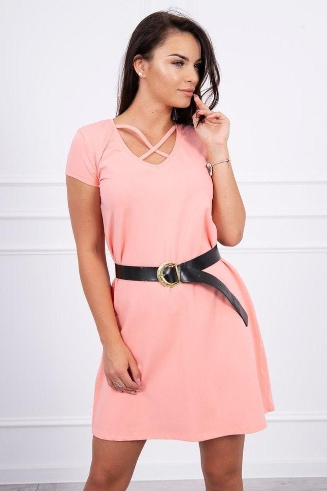 81f96f5c0183 Letní mini šaty s páskem Kesi ks-sa8892ap - Lovely.sk