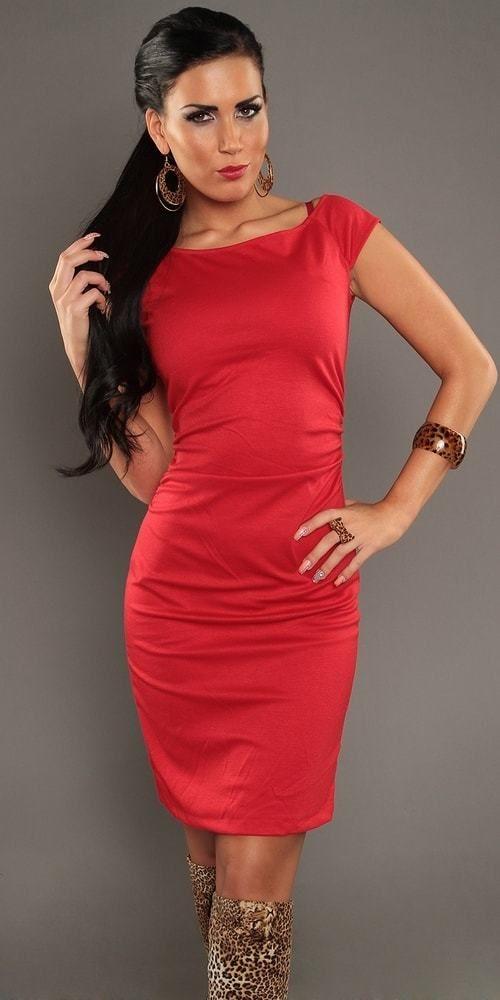 0642070b59b7 Elegantné dámske šaty červené Koucla in-sat1081re - Lovely.sk