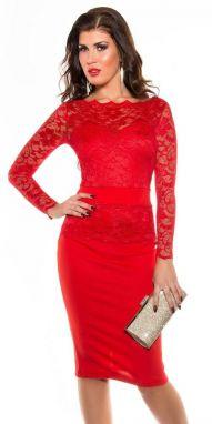 7ad89f686bd Červené dámske šaty 35-3 Numoco nm-sat35-3 - Lovely.sk