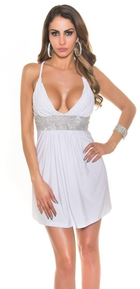f55e21b010df Party dámske šaty Koucla in-sat1261wh - Lovely.sk