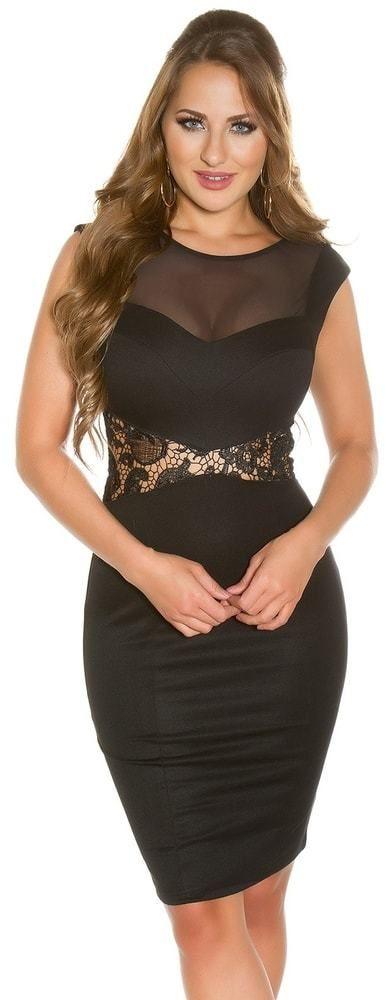 Koktejlové šaty - čierne Koucla in-sat1018bl - Lovely.sk 4060fe4926e