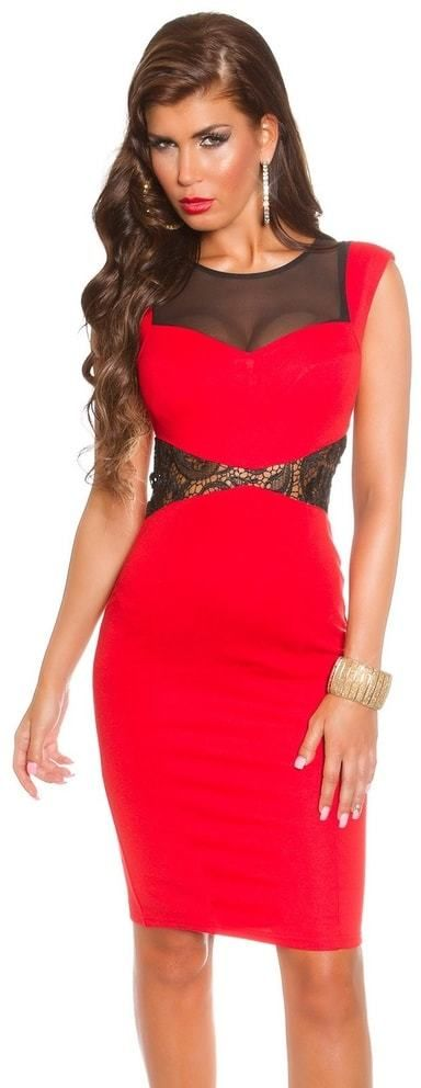 2480cef9d422 Koktejlové šaty - červené Koucla in-sat1018re - Lovely.sk