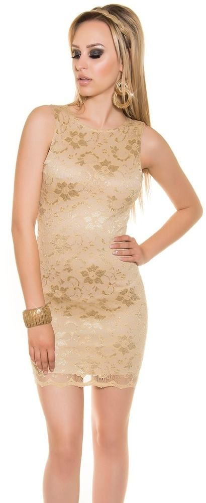 26faf8c5e996 Spoločenské čipkované mini šaty Koucla in-sat1332go - Lovely.sk