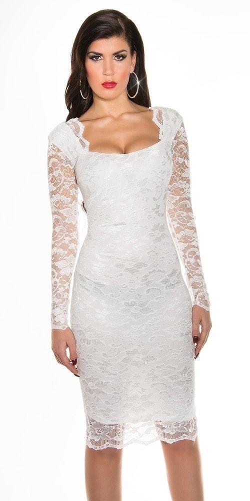 8f17691931b3 Dámske večerné šaty - biele Koucla in-sat1009wh - Lovely.sk