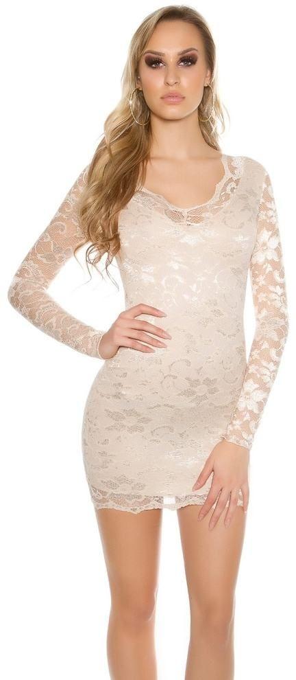 Krátke čipkované šaty Koucla in-sat1050be - Lovely.sk 1b68dc5bd2a