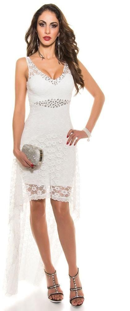f8ca44987e7e Koktejlové šaty biele Koucla in-sat1210wh - Lovely.sk