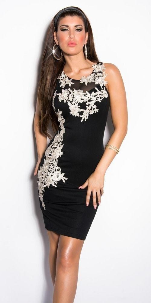 62ace8649 Koktejlové šaty čierne Koucla in-sat1230bl - Lovely.sk