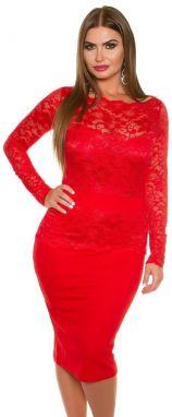 c8e80979ed7e Červené dámske šaty Koucla in-sat1155re - Lovely.sk