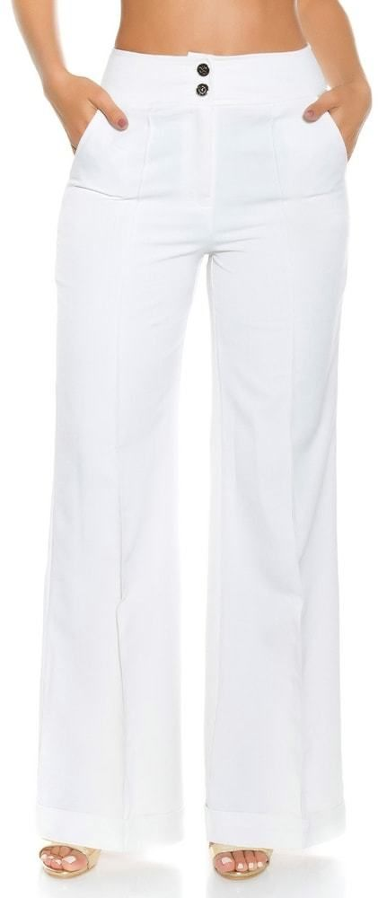 29e21c6f89 Dámske nohavice - biele Koucla in-ka1100wh - Lovely.sk