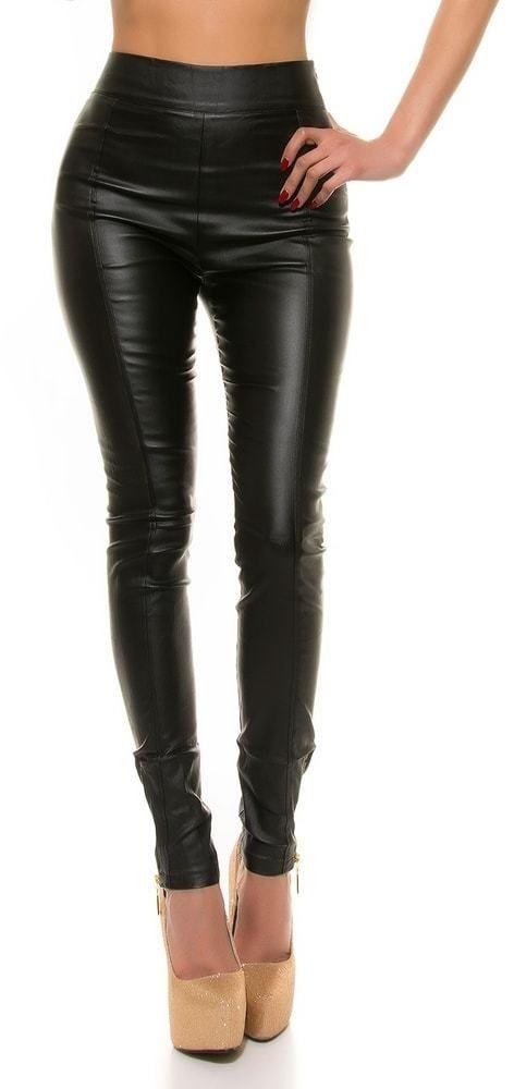 37015291f6c7 Koženkové nohavice dámske čierne Koucla in-ka1021bl - Lovely.sk