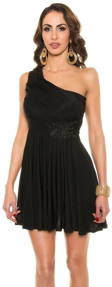 Čierne plesové šaty krátke Koucla in-sat1204bl - Lovely.sk d3973ae9964