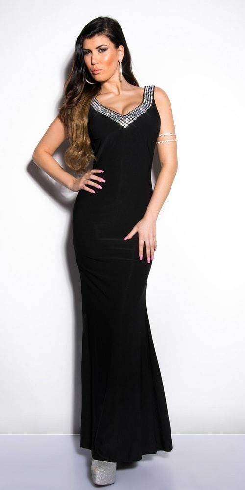 c2c453a5f7dd Čierne plesové šaty Koucla in-sat1032bl - Lovely.sk