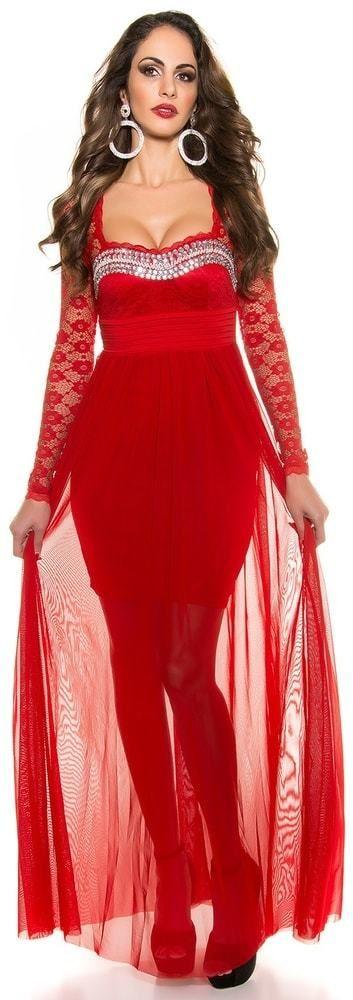 Krásne dlhé plesové šaty Koucla in-sat1121re - Lovely.sk df744c209c