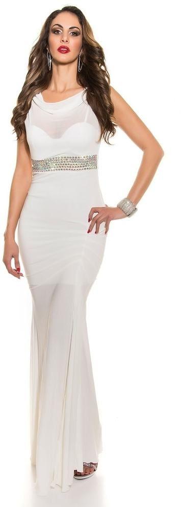 459faf51a4c1 Krásne plesové šaty Koucla in-sat1203wh - Lovely.sk