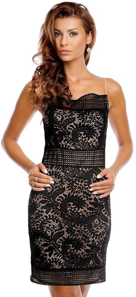 Čierne šaty do spoločnosti EU hs-sa523bl - Lovely.sk 616ccfa7290