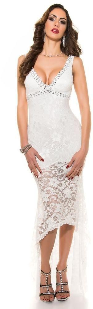 Spoločenské dámske šaty Koucla in-sat1327wh - Lovely.sk 60657023673