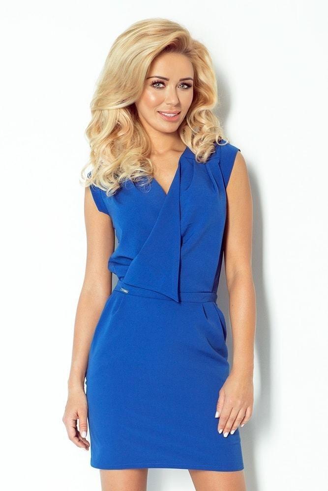 b79b2bf657f Elegantné dámske šaty - modrá 94-3 Numoco nm-sat94-3 - Lovely.sk
