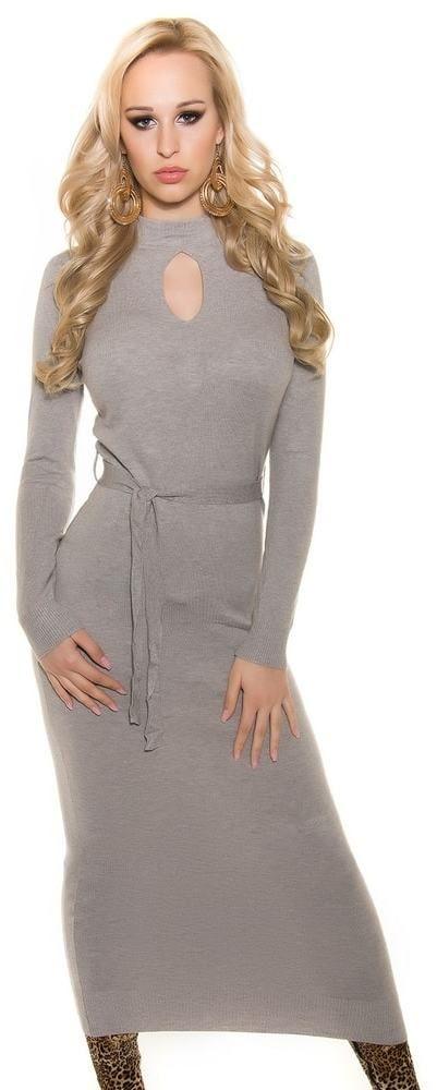 de5e2d0ecd93 Dámske dlhé úpletové šaty Koucla in-sat1146gr - Lovely.sk