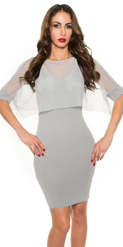 Dámske elegantné šaty Koucla in-sat1287gr - Lovely.sk f9fe17783bd