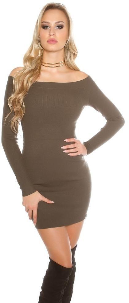Elegantné úpletové šaty Koucla in-sat1528kh - Lovely.sk 3ee1bec1151