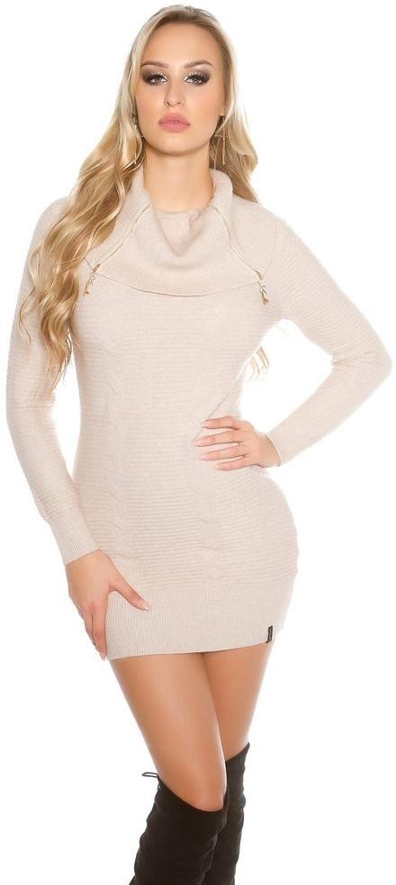 33ddbcf239fd Dámske úpletové šaty Koucla in-sat1299be - Lovely.sk