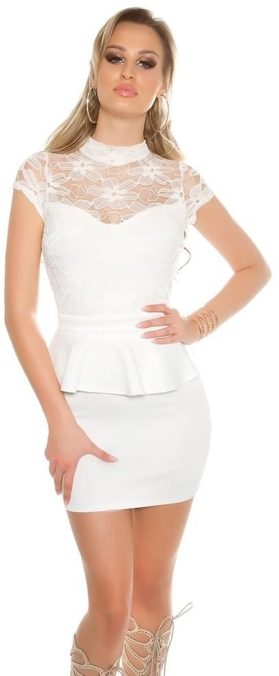Dámské mini šaty s krajkou Koucla in-sat1537wh - Lovely.sk 868bc916d47