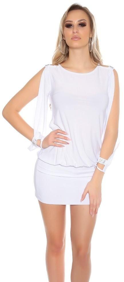 Dámske biele mini šaty Koucla in-sat1446wh - Lovely.sk 27050b293d7