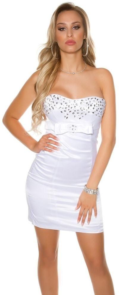Spoločenské dámske šaty Koucla in-sat1063wh - Lovely.sk 6a368776596