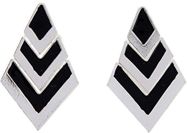 b8e46139c Blancheporte Dvojfarebné náušnice čierna/striebristá 5cm značky  Blancheporte - Lovely.sk