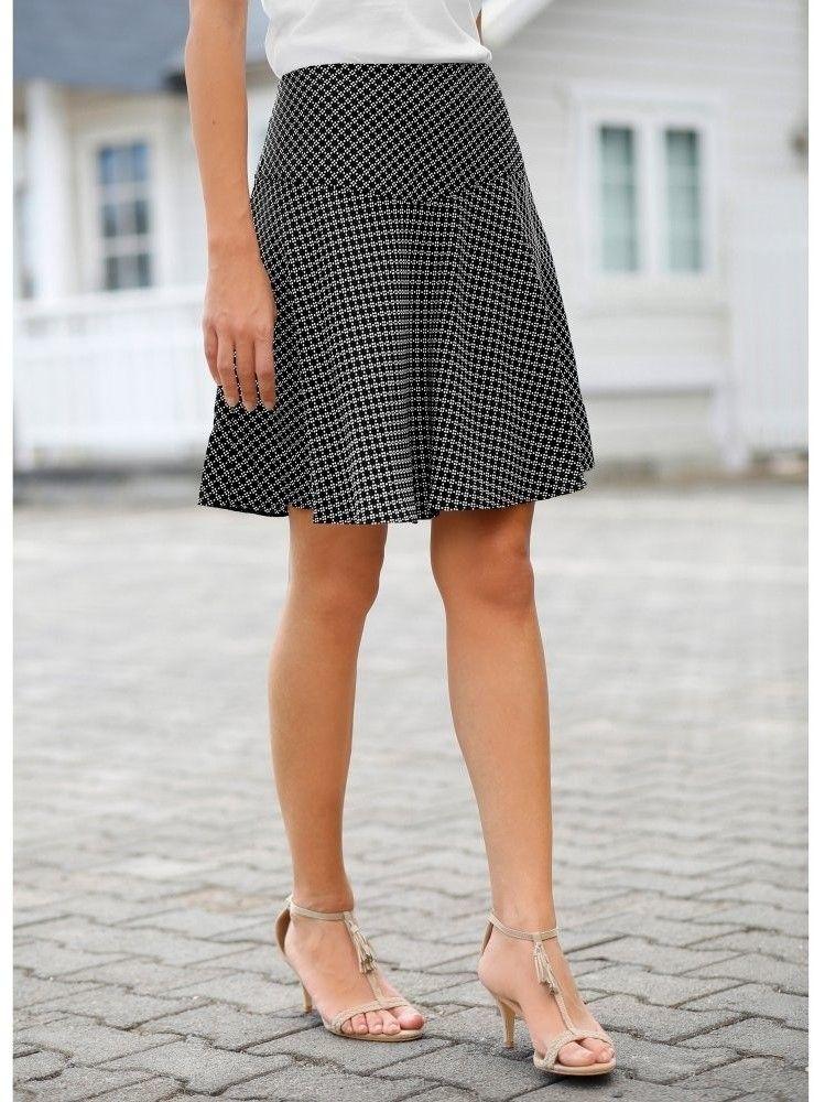 57327c7aa1c3 Blancheporte Rozšírená sukňa s grafickým vzorom čierna biela 42 značky  Blancheporte - Lovely.sk