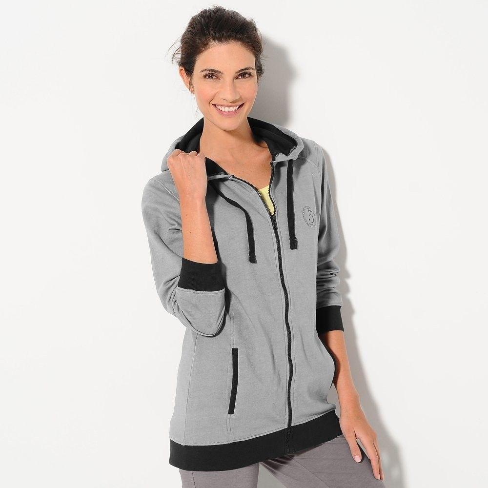 Blancheporte Dvojfarebná mikina so zipsom sivá čierna 38 40 značky  Blancheporte - Lovely.sk 70465f22d37