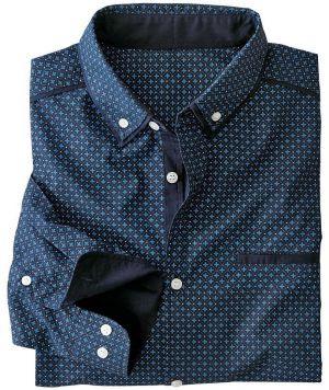 ac07fc5a36f2 Blancheporte Flanelová kockovaná košeľa čierna modrá 49 50 značky ...