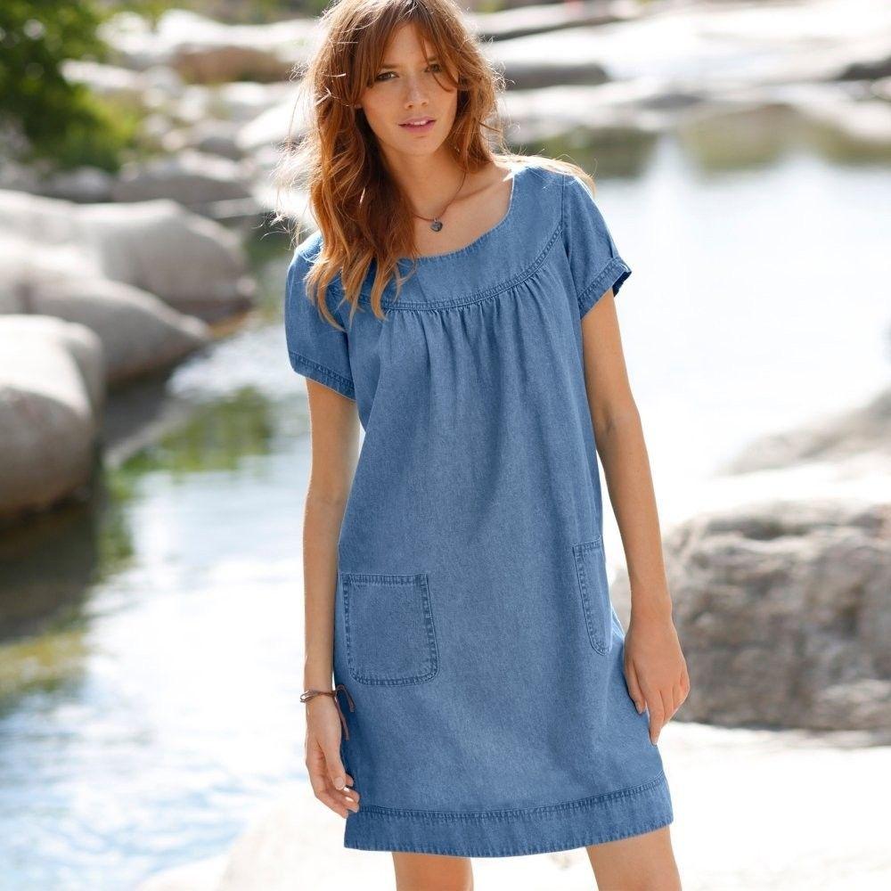 Blancheporte Džínsové šaty zapr.modrá 36 značky Blancheporte - Lovely.sk 57ed724bb25