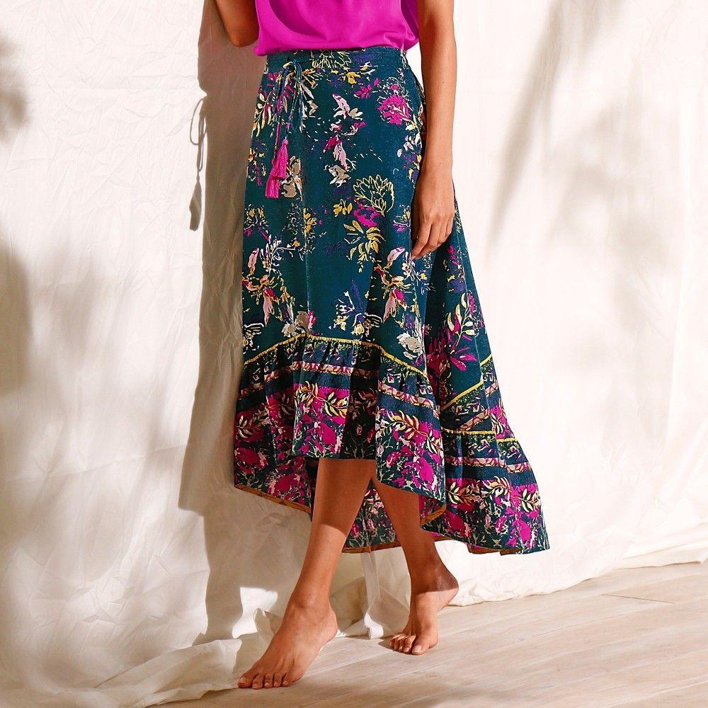 e06569f16f52 Blancheporte Dlhá asymetrická sukňa s potlačou značky Blancheporte -  Lovely.sk