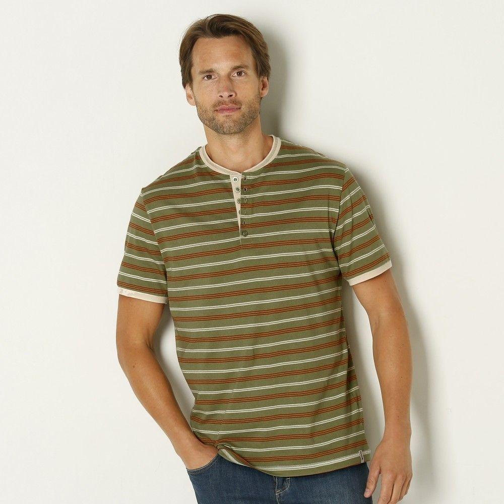 4cf015226 Blancheporte Pruhované tričko s tuniským výstrihom značky ...
